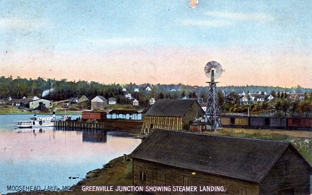 Steamboats meet trains at Greenvile Junction Landing