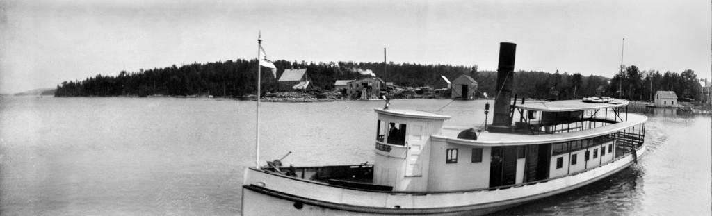Steamboat Comet Pano East Cove Moosehead Lake Greenville Maine